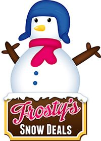 Frosty's best package deals:         Sunny Days Toboggan·Overpants·Snow Boots Children-$15 Adult-$18 A little bit warmer Toboggan·Insulated Overpants·Snow Boots Children-$23 Adult-$27 Snug as a bug Toboggan·Insulated Jacket & Overpants·Snow Boots Children-$32 Adult-$36 Kids love snow Toboggan·Fullsuit·Snow Boots Children-$25 Mention FROSTY and receive his website deal – see below. We …