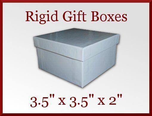 12 White Gloss Rigid Bracelet Gift Boxes 3.5 x 3.5 x 2in Jewelry Retail Great Deal at CDVDMart on Bonanza