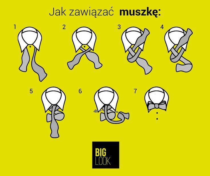 """Film o wiązaniu krawata już był to teraz """"ściąga"""" z wiązania muszki. Po muszki zapraszamy do naszych salonów i na www.biglook.pl/produkty"""