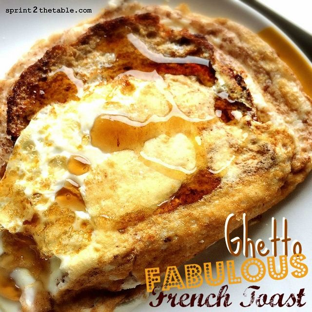 Ghetto Fabulous French Toast --> This is the laziest, most bass ackwards way possible to make French Toast...