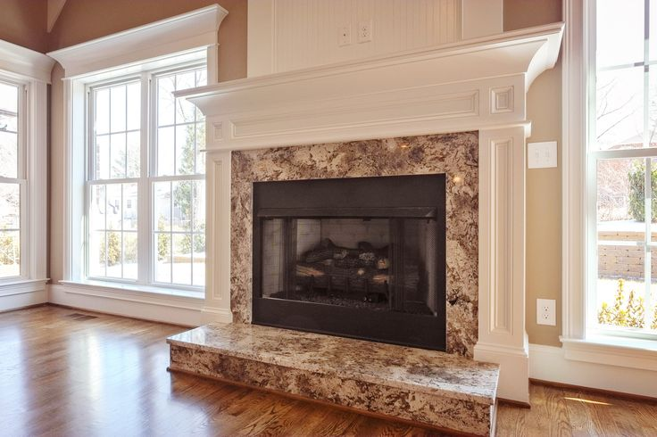 Natural Stone Fireplace #granite #marble #naturalstone #fireplace #hearth
