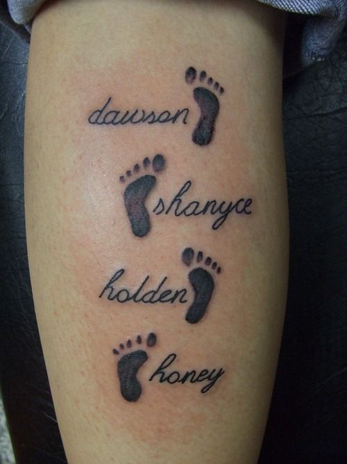This is perfect for me. I've been looking for an adorable way to get Alex's name tatted. The only child I'll have :-)