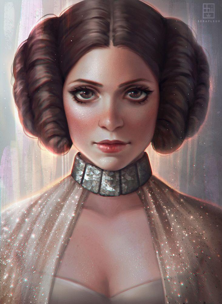 Princess Leia, Abigail Diaz on ArtStation at https://www.artstation.com/artwork/odVrk