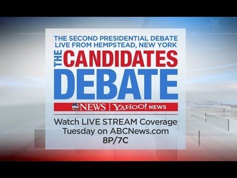 2nd Presidential Debate 2012 - Live Stream From ABC News and Yahoo News:  The Candidates Debate