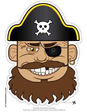 Pirates Free Printable Masks.
