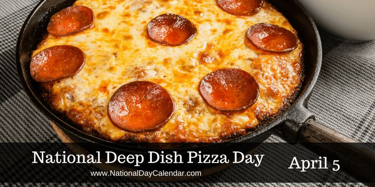 "The best sound in the world, ""Pizza Is Here!"" #DeepDishPizzaDay"