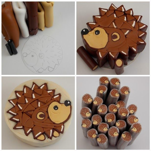 Polymer Clay Shed: Hedgehog Cane