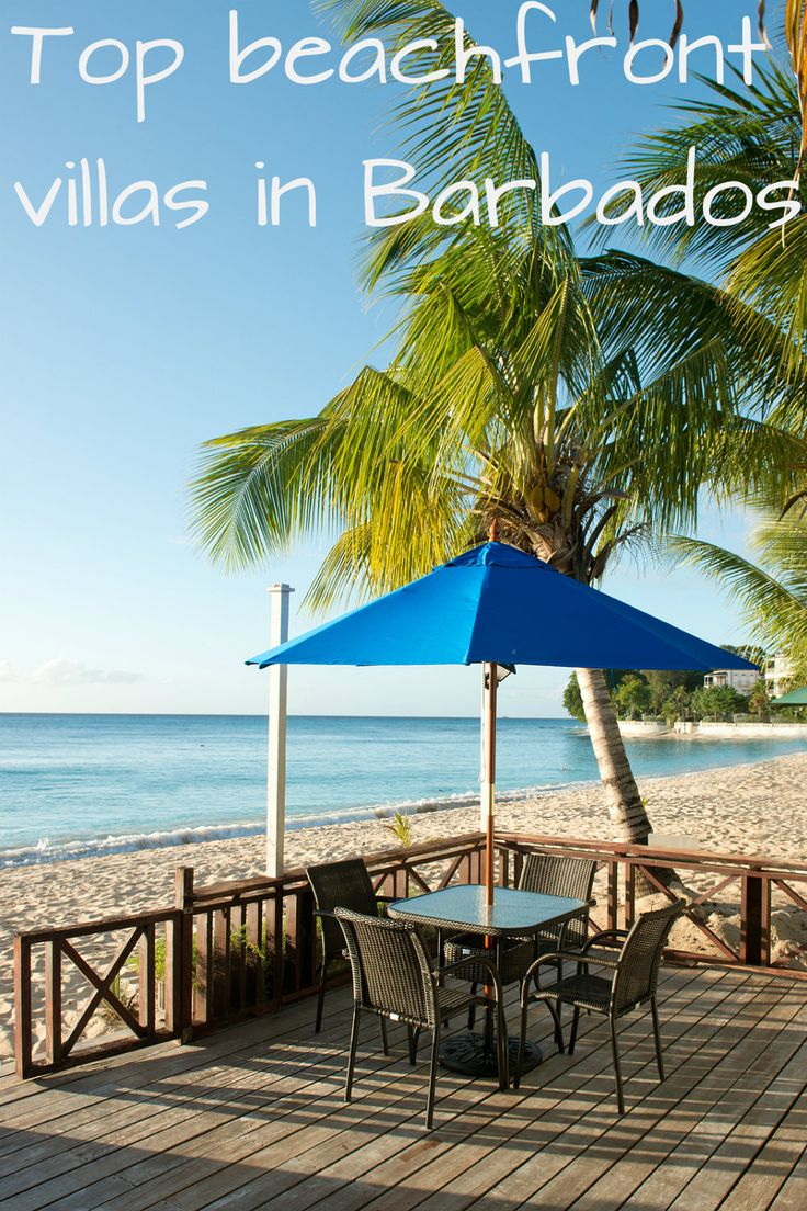 Check out some of our favourite beachfront villas in Barbados... Apartments and holiday homes set beside some of the most beautiful stretches of sand on the island, offering direct beach access and stunning sea views.