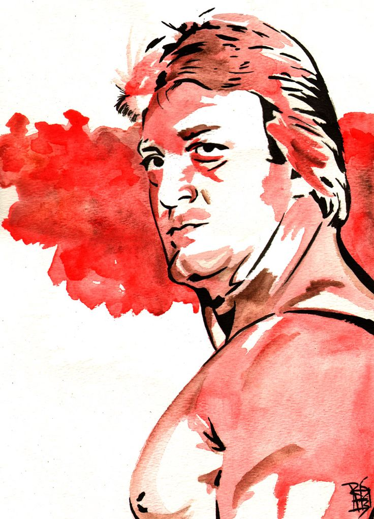 """Paul Orndorff - Ink and watercolor on 9"""" x 12"""" watercolor paper"""