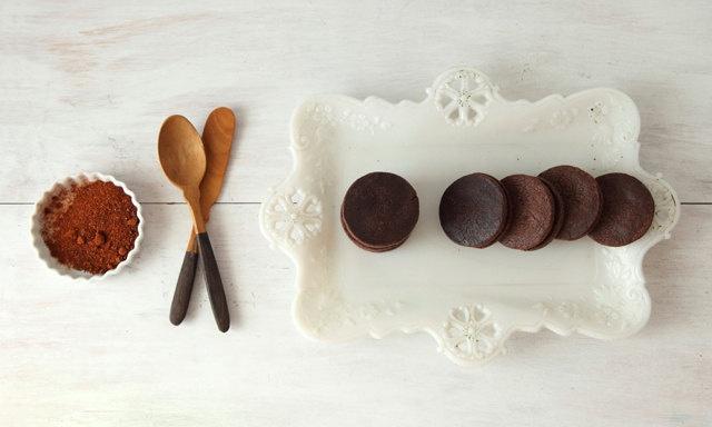 Chocolate Caramel Sandwich Cookies with Chipotle and Sea Salt. , via ...