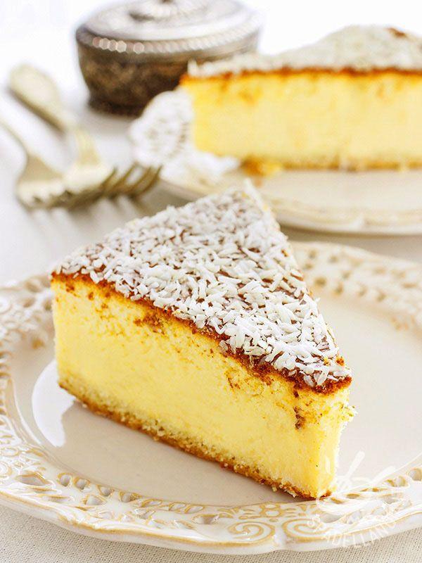 Torta morbida di ricotta alla vaniglia