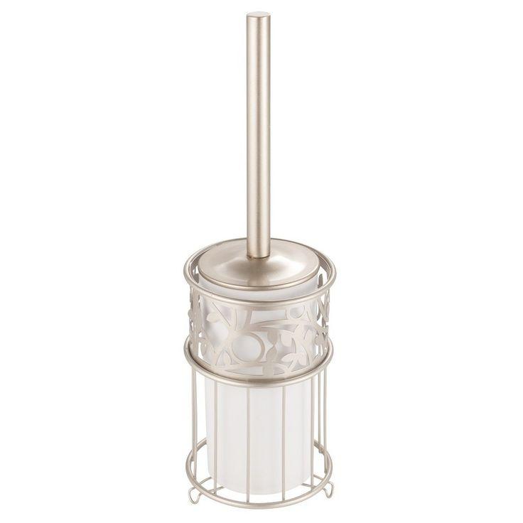 Vine Toilet Brush And Holder Set Pearl (White) - InterDesign