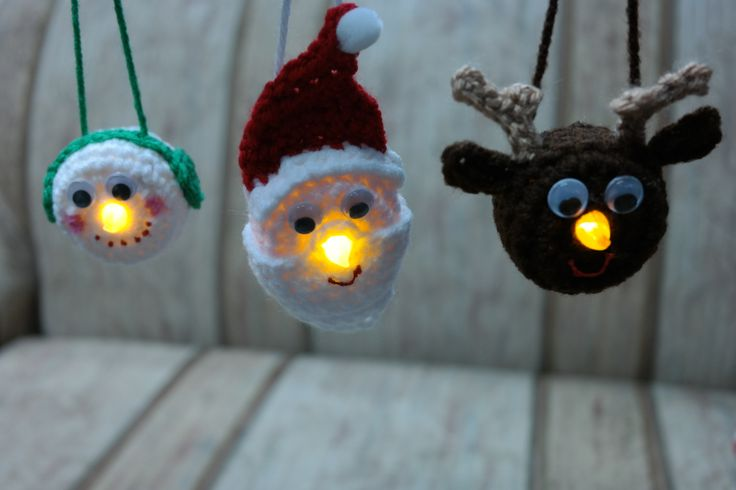 Light Ornament Family-free crochet pattern