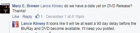 All-Stars .. actor/director Lance Kinsey response to me -- mary e brewer-- on my page about DVD release of All Stars .. posted 12-4-2015