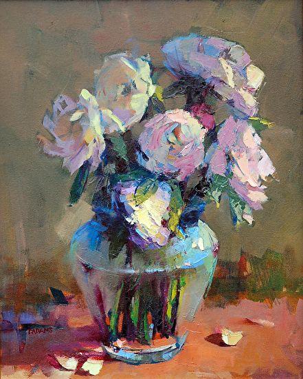 Delicate Flowers by Trisha Adams Oil ~ 20 x 16