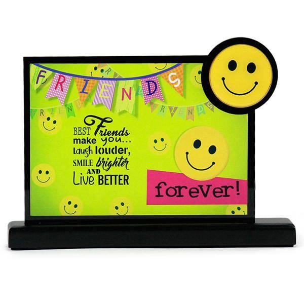 Beautiful Desk Quotation For Friend  Friends, Best friends make you… laugh louder, Smile brighter and live better. #giftforfriend #quotation #deskquotation Size : 19.5 X 3.5 X 13. | Rs. 324 | Shop Now | https://hallmarkcards.co.in/collections/friendship-day/products/gift-for-friend