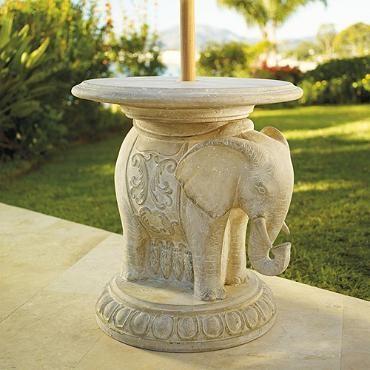 Elephant Umbrella Table