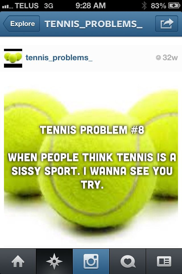 Everyone in my class thinks that because they play basketball, soccer, football, etc, Tennis is easy. PLEASE