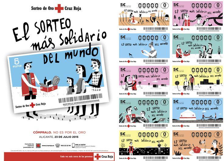 """""""El sorteo más solidario del mundo"""" Arantxa Recio para Cruz Roja."""