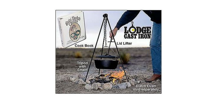 Lodge Dutch Oven Tripod and Lid Lifter at Cabela's