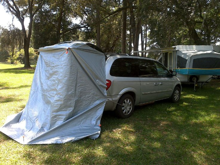 Poor Man's Tailgate Tent  If a tailgate tent isn't in your budget then this could be an option, instead.