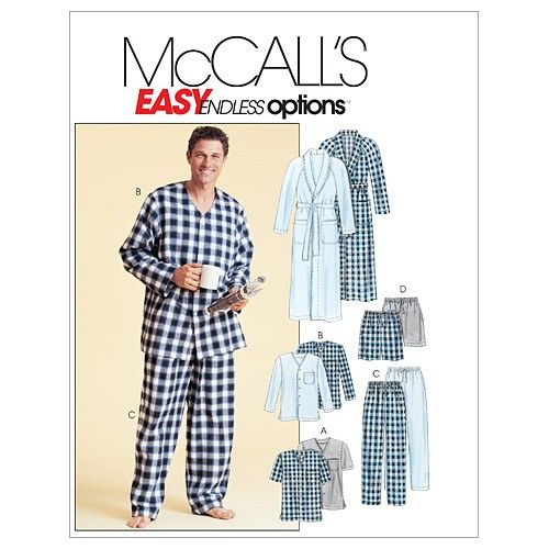 McCall's Men's Sleep and Lounge Wear Sewing Pattern M4244 | Sew.co.uk