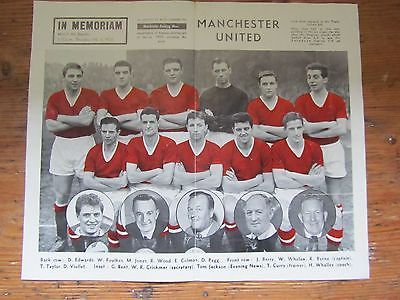 Manchester United 1957 Triple Crown bid team/ Munich air disaster team picture
