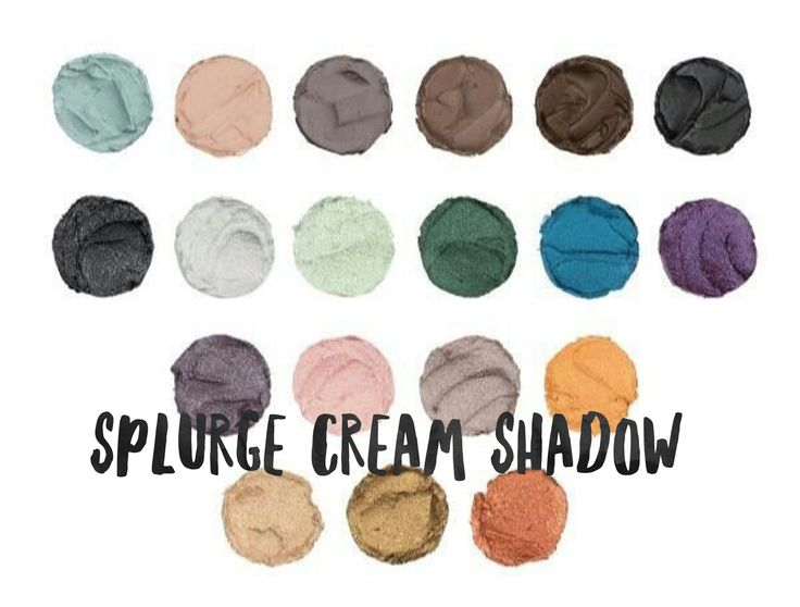 Splurge cream shadow is lightweight, goes on smooth, & no creasing. We have matte & sparkle for you