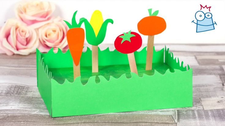 Kids can enjoy planting their own vegetables with this fun mini allotment craft.