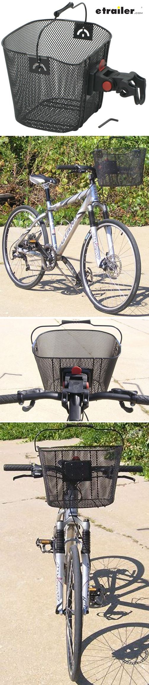 Don't worry about wearing back packs or hanging bags from the handle bars anymore. This is the perfect addition for a casual ride. The Deluxe Quick Release Bracket securely grasps the front of the bike and snaps to the back of the Retro Bike Basket, offering a stable ride for the basket's contents. The basket also easily detaches for loading and unloading, while the handle makes carrying a breeze.
