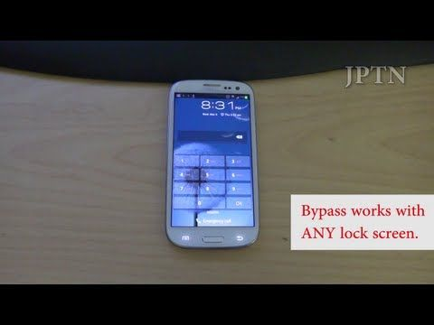 Samsung S3/Note 2 (i747 Rogers, Bell, Telus, AT&T) Lock Screen Bypass Demo/Security Hole - YouTube