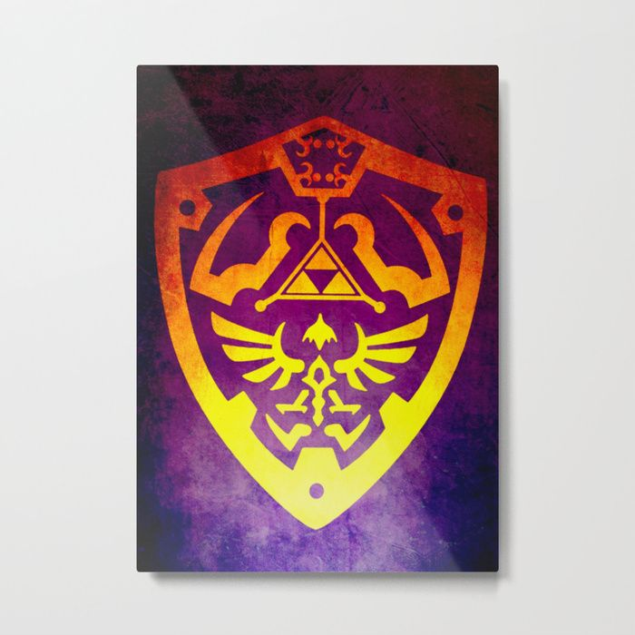 25% Off Art Prints, Tapestries and All Wall Art With Code: LETSHANG . Buy Zelda Shield II Large Metal Print by scardesign.