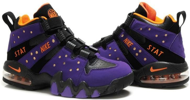 charles barkley shoes | Charles Barkley Shoes Nike Air Max2 CB 94  Purple/Black/Orange | We Are Jordan | Pinterest | Black
