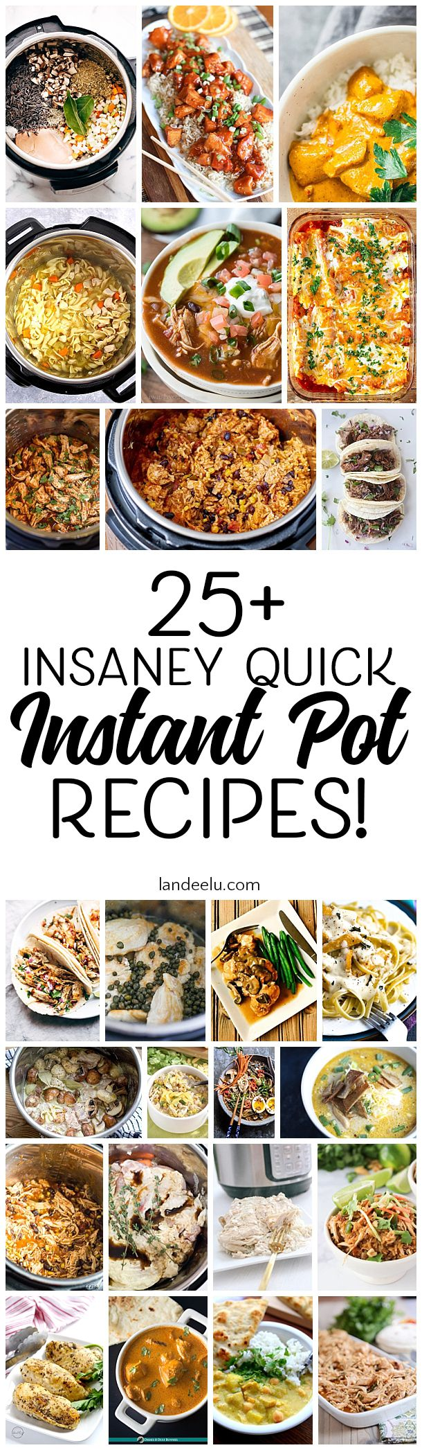 Over 25 awesome and quick instant pot recipes you'll want to try! #instantpotrec…