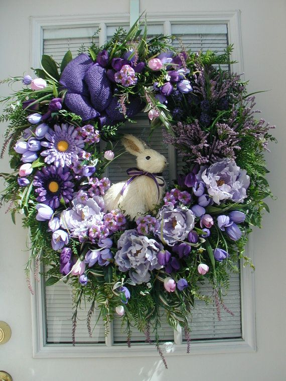 Easter Decoration Spring Wreath Summer Wreath Large Sisal