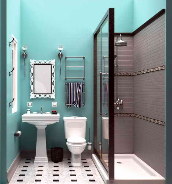 40 Wonderful Pictures And Ideas Of 1920s Bathroom Tile Designs: Small Vintage Bathroom, Vintage Bathrooms And
