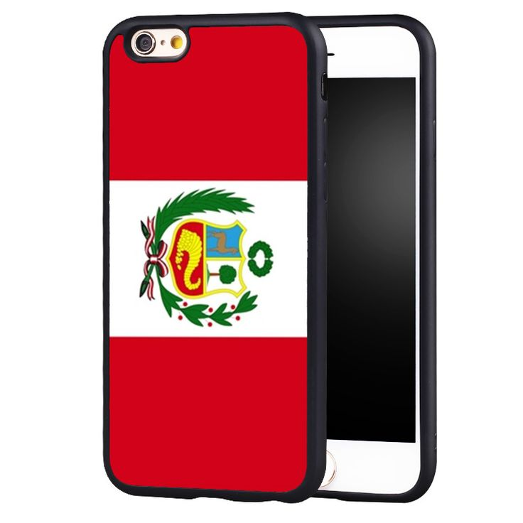 peru Flag Printed Protective Soft Rubber Black Skin Mobile Phone Cases For iPhone 6 6S Plus SE 5 5S 5C 4 4S Back Shell Cover