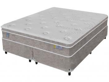 Cama Box Queen Size (Box + Colchão) Sealy Mola - 62cm de Altura Miami