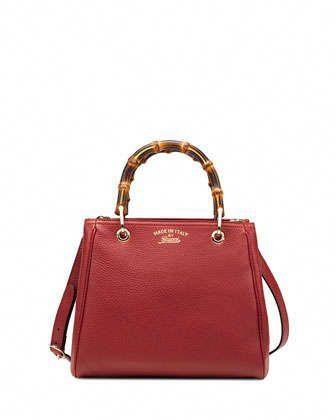 Bamboo Small Per Tote Bag Red By Gucci At Neiman Marcus Guccihandbags
