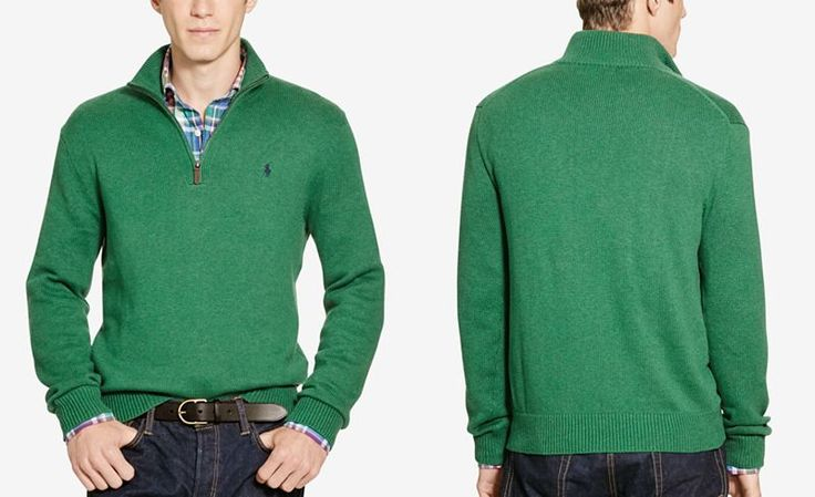 Polo Ralph Lauren Men's Half-Zip Sweater - Sweaters - Men - Macy's