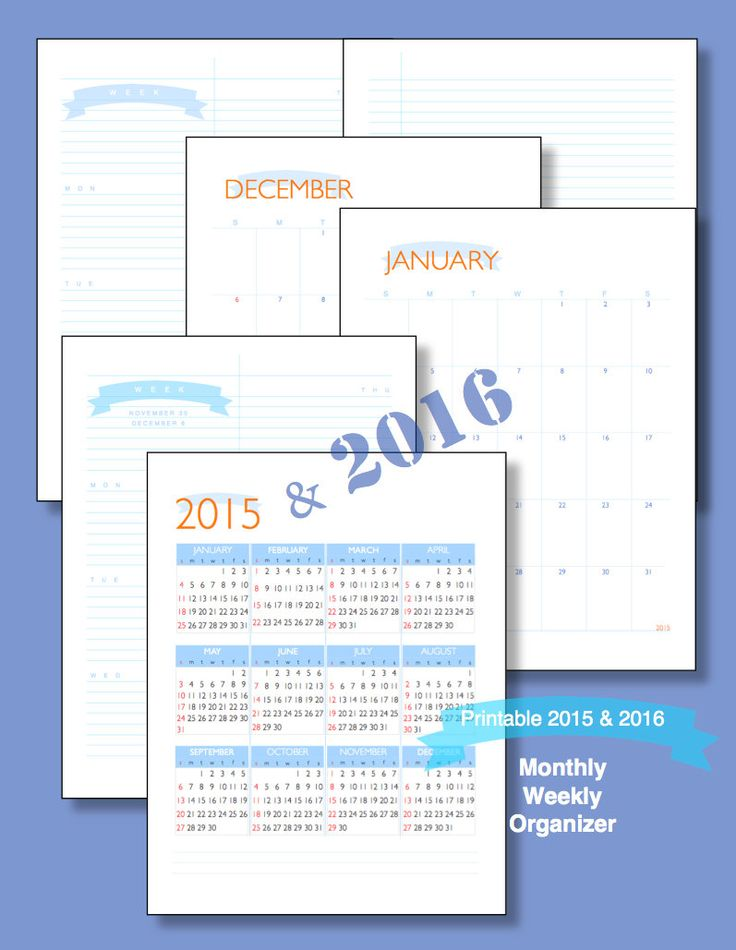 The 25+ best Printable weekly calendar 2016 ideas on Pinterest - free printable weekly calendar