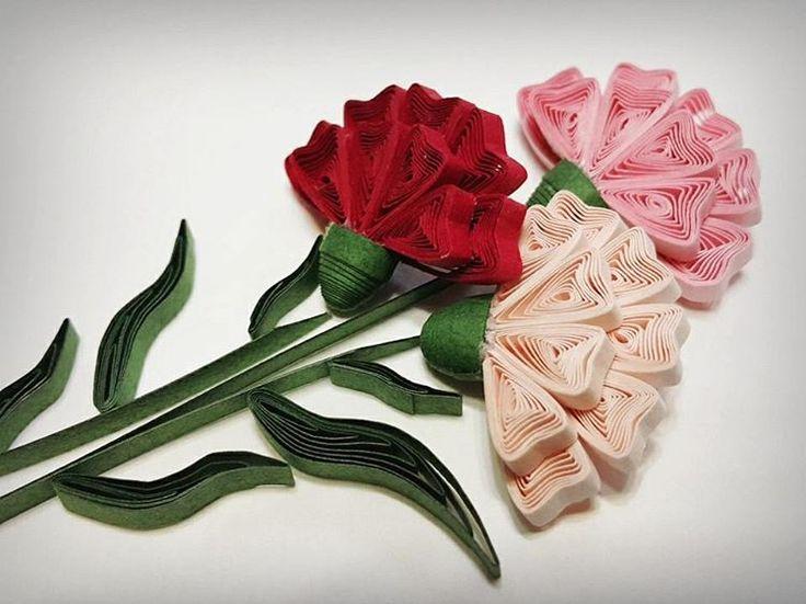 """좋아요 247개, 댓글 13개 - Instagram의 Hae Kyoung Kim(@rhodanthe1216)님: """"quilling flower - carnation #quilling#paperquilling #quillingart#papercrafts #paperflowers…"""""""