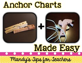 Mandy's Tips for Teachers: Bright Idea Blog Hop: Hanging Anchor Charts the Easy Way!