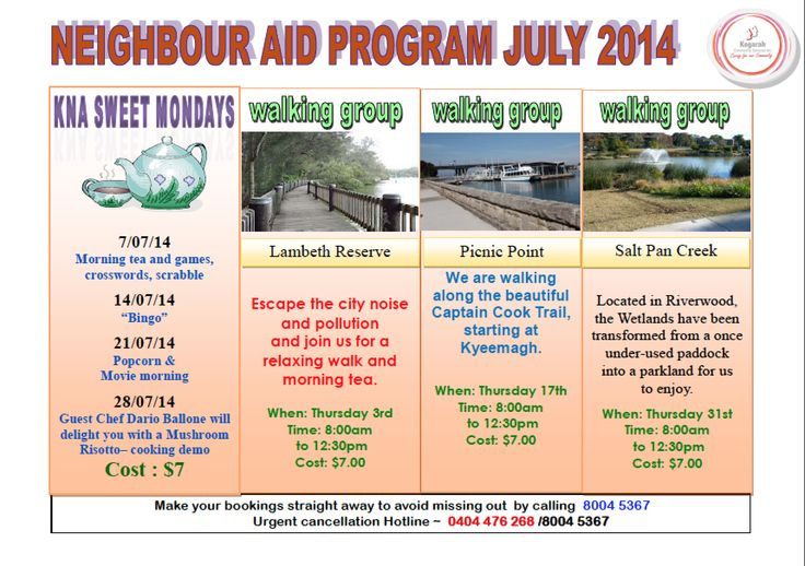 Neighbour Aid Program July 2014