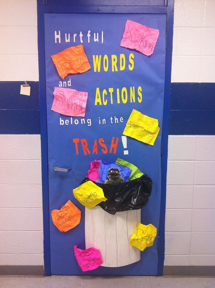 October is National Bullying Prevention Month. My students decorated my door to help raise awareness.