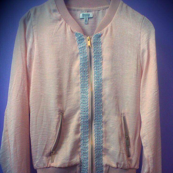 diy jacket bomber pink pastel accessories detalles handmade design shuuforyou