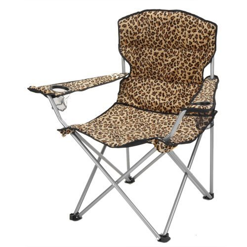 Timber Creek Leopard Folding Chair....need this for camping!