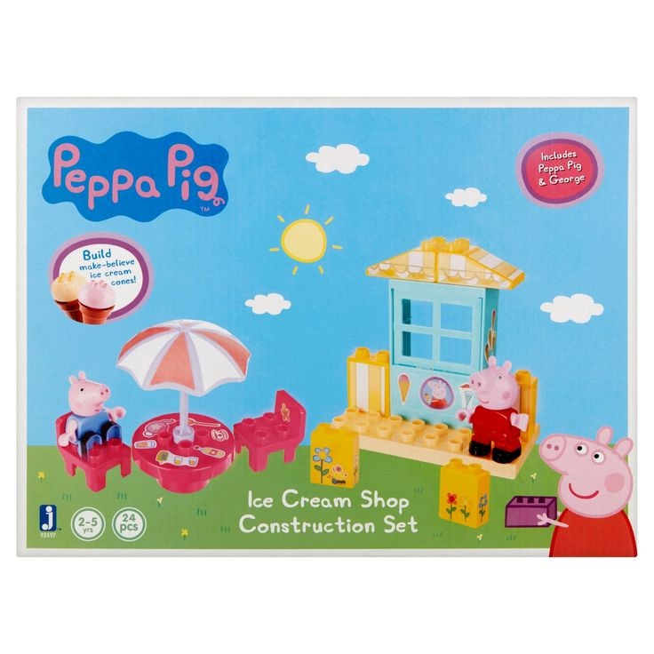 Peppa Pig Ice Cream Shop Construction Set 2-5 Yrs, 24 count, Multicolor