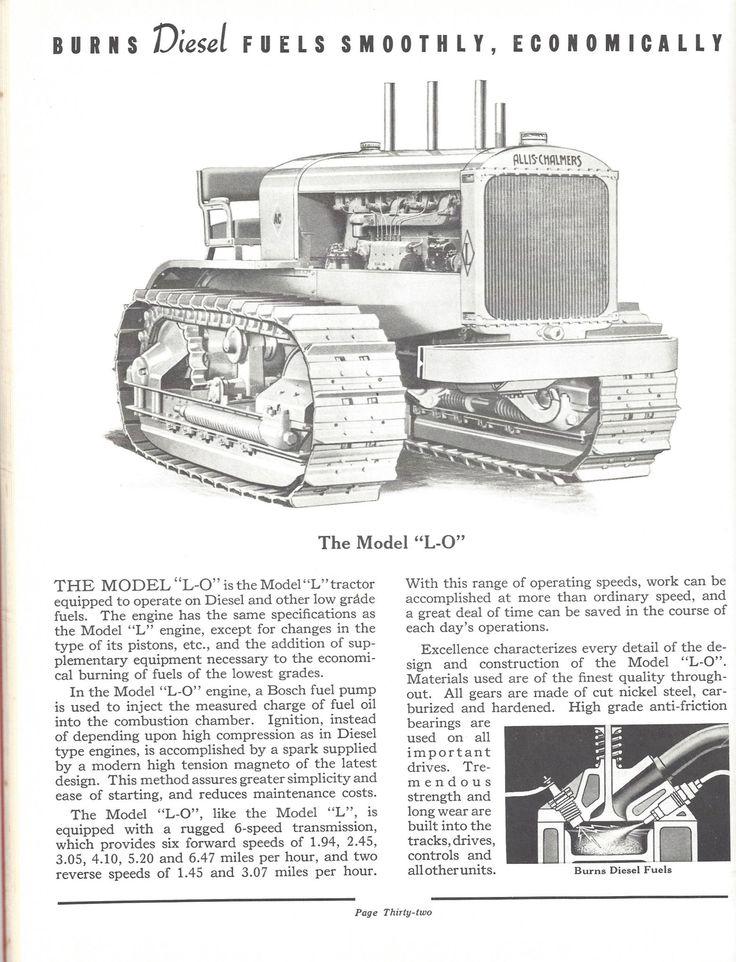 Allis-Chalmers Model L-O Crawler Tractor