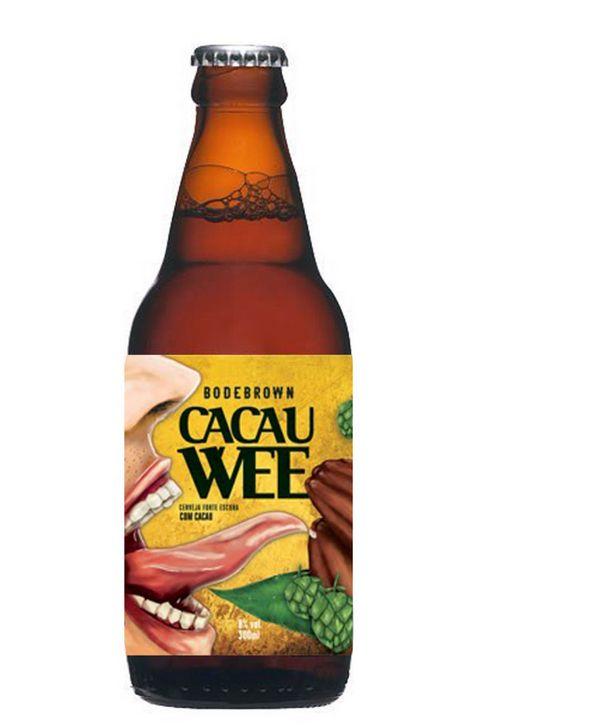 Cerveja Bodebrown Cacau Wee, estilo Strong Scotch Ale, produzida por Cervejaria Bodebrown, Brasil. 8% ABV de álcool.
